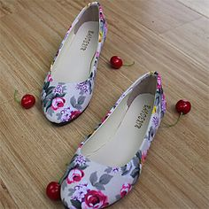 Shoes For Women Flat Heel Round Toe Flats Casual Black Blue Green Pink Purple Red Beige