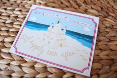 LoveLee | illustrations + designs | beach save the date postcard | wedding