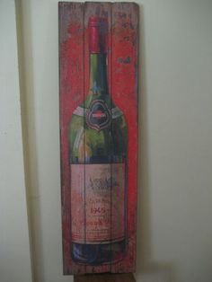 Vintage Style Wine Bottle Resturant Home Decor Barn Country Wood Pub Sign Irish Pub Decor, Home Bar Rooms, Winery Tasting Room, Modern Gypsy, Pub Signs, Wine Decor, Old Chairs, Vintage Fashion, Vintage Style