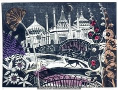 Brighton Pavilion by Sarah Young: The Royal Pavilion, is often referred to as the Brighton Pavilion and was built by the British in the Indo-Saracenic style prevalent in India for most of the 19th century