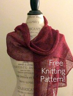Etherial Shawl Free Knitting Pattern  - One skein knitting project! http://blog.nobleknits.com/2014/02/etherial-shawl-free-knitting-pattern.html