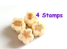 Leaves stamper maple green leaf rubber stamp by StickersKingdom