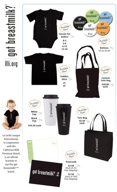 "La Leche League is an official licensee to use the ""got breastmilk?"" So getting Livi a tshirt"