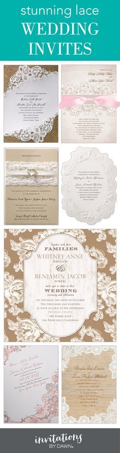 Elegance meets romance! Stunning lace wedding invitations that fit your style.