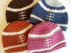 crochet football beanie for babies
