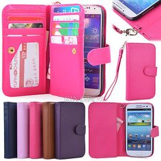 PU Leather Women Handbag Cash Wallet + Phone Case for Samsung Galaxy S & Note