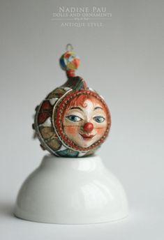 Купить Рыбка Клоун - комбинированный, рыбка, рыбка клоун, елочная игрушка, nadine pau, цирк