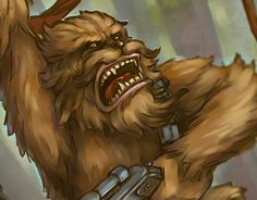 """Check out new work on my @Behance portfolio: """"Chewbacca - fan art"""" http://on.be.net/1MPECbV"""
