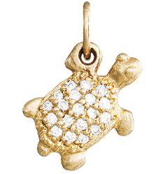 Turtle Mini Charm Pave Diamonds