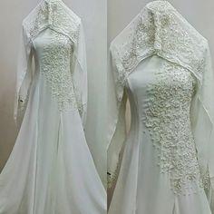 baju nikah dan veil nikah 2014