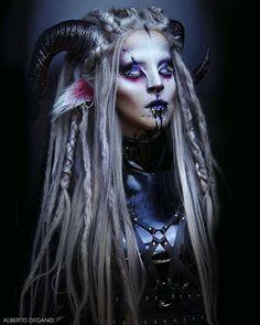 Makeup Fx, Cosplay Makeup, Costume Makeup, Faun Makeup, Faun Costume, Demon Makeup, Succubus Costume, Face Off Makeup, Creepy Makeup