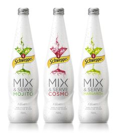 Asprey Creative - Schweppes Mix & Serve PACKAGING DESIGN World Packaging Design Society│Home of Packaging Design│Branding│Brand Design│CPG Design│FMCG Design