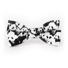 Mantieqingway PU Leather Mens Bowtie Fashion Men Leather Bow Ties Flower and Panda Fashion Casual