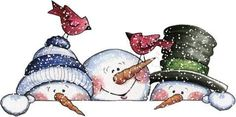 Snowmen by Patricia Parcks - Projects to Try - Weihnachten Christmas Clipart, Christmas Printables, Christmas Pictures, Christmas Snowman, Winter Christmas, Christmas Ornaments, Christmas 2017, Snowman Crafts, Christmas Projects
