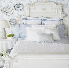 How to Decorate a Country Bedroom - via Eye For Design: How To Decorate Country Bedrooms With Charm