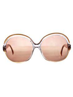 Vintage Lanvin Round Frame Sunglasses | Vintage Designer Frames | Accessories' Eyewear | American Apparel