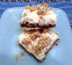 Walnut Bars w/Butter Rum Frosting (I'm mostly here for the frosting, but if I ever do make the bars, I'll probably sub in pecans and add a hefty helping of chocolate...)