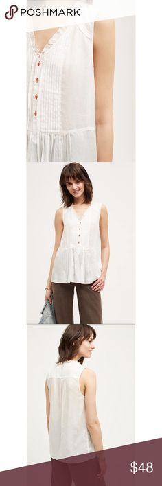 NWT Anthropologie top Holding Horses white peplum 'Faye' top sold at Anthropologie. NWT Anthropologie Tops Blouses