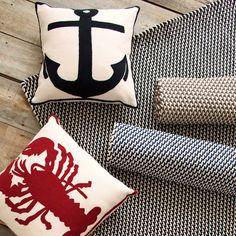 Dash & Albert Two-Tone Rope Navy and Ivory Indoor/Outdoor Rug@laylagrayce #laylagrayce #dashandalbert #rugs