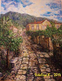 Vitalina K. Samosvat - Art: Τα πέτρινα Painting, Art, Art Background, Painting Art, Kunst, Paintings, Gcse Art