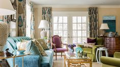 fun colorful interior design by Katie Rosenfeld