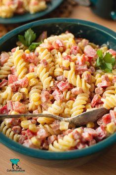 Sałatka makaronowa z kabanosem Quinoa, Food And Drink, Tasty, Breakfast, Ethnic Recipes, Food And Drinks, Salads, Morning Coffee