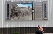 Lincoln Highway Interpretive Mural - Ashton: Views will be transported back to the early Lincoln Highway era to join the Pavement Jubilee.