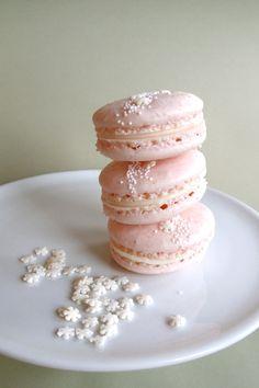 Rose-Infused White Chocolate Ganache Macarons