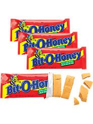 Bit-O-Honey is a distinctive honey-flavored taffy blended with bits of almonds satisfies the sweet tooth and the need for a long-lasting chew for kids and adults alike.