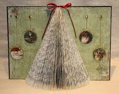 altered books - Christmas tree