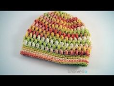 How to Crochet a Puff Stitch Hat - YouTube