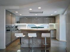 U alakú konyha - konyha / étkező ötletek, modern stílusban