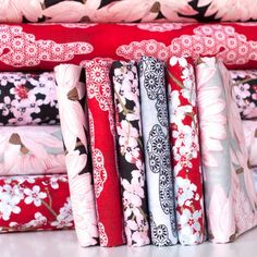 http://www.plushaddict.co.uk/fat-quarter-bundle-cottons-hanami-falls-fabrics.html Fat Quarter Bundle Cottons: Hanami Falls - cotton fabric