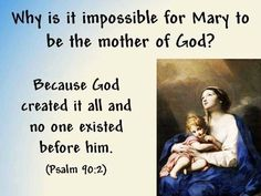 Mary, mother of God? Really? What does the Bible say.