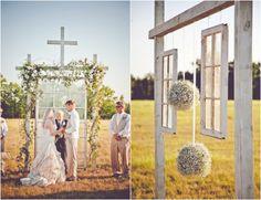 www.markwilliamsstudio.com on Rustic Wedding Chic  Hanging Windows For Outdoor Wedding