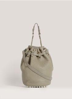 Alexander Wang - Diego studded bucket shoulder bag