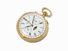 Lucien Rochat Taschenuhr Chronograph, Schweiz, um 1990 Lucien Rochat Taschenuhr ChronographSchweiz,