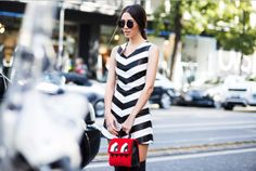 @fabmusediana (www.fabulousmuses.net) rocking our black&white leather dress at @MilanFashionWeek #weworewhat