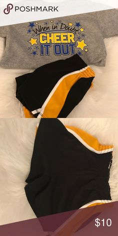 Cheer practice outfit, Omni cheer, Chasse/Gildan Brand new cheer shirt never worn, shorts worn once Matching Sets