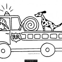 cardinal coloring pages preschool truck - photo#19