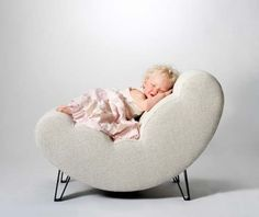 Cloud chair for a baby's room