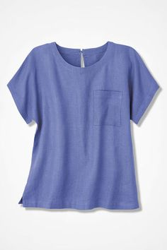 78515546b03 Oasis Solid Linen Blouse, Hyacinth Scoop Neck, V Neck, Linen Blouse, Oasis