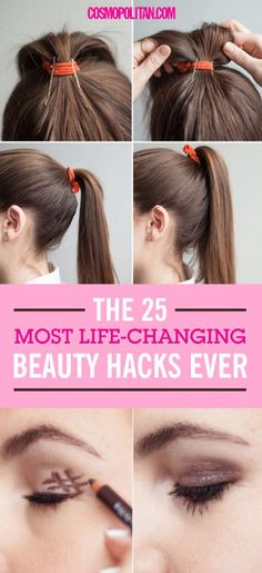 25 Life-Changing Beauty Hacks You Must Check Out!1.For better grip, flip the bobby pin over so the wavy side is against your head.  If you have a hard time keeping your bobby pins in place, try flipping the pin over. The straight side is slicker & won't grip as well as the wavy, more textured side.2.Insert bobby pins into your ponytail holder vertically to prop up your ponytail.  Put your hair in a ponytail, insert 2 or 3 bobby pins halfway inside the elastic & facing downward toward the…