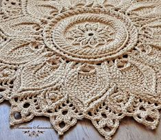 crocheted lace mats, knitted lace rug, crochet rug, round a Crochet Doily Rug, Crochet Wool, Lace Knitting, Crocheted Lace, Shabby Chic Rug, Living Room Area Rugs, Round Area Rugs, Lace Doilies, Yarn Colors