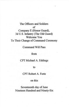 1996-06-17-CoC-Honor Guard Company-Poch-Book 01-02 | by Old Guard Museum