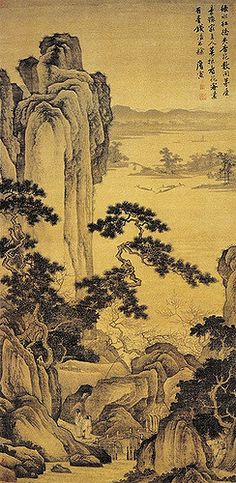 Painted by the Ming Dynasty artist Tang Yin 唐寅(伯虎)  View paintings, artworks and galleries at Chinese Art Museum.  Learn about Chinese history and art at China Online Museum.