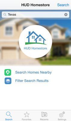 HUD HomeStopre Mobile App iPhone Screenshot 1