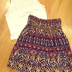 NWOT tribal printed high waisted skirt Adorable and very comfortable! Elastic waistI love to offer bundle discounts! No trades. Please use the offer button to submit offers! Mossimo Supply Co Skirts