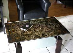 Mugwort Black Medallion Wide Resin Surface - Threyda Art and Apparel