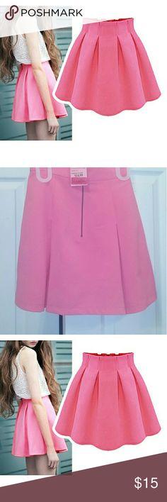 Skater Skirt Pink skater skirt with pleats. Monteau Skirts Mini